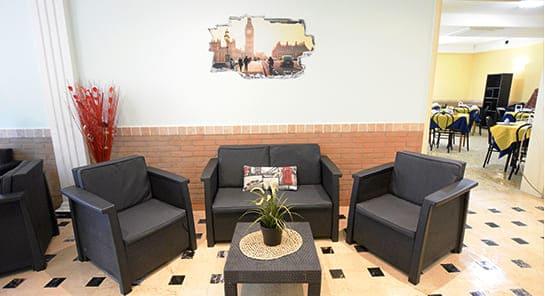 hotel cesenatico hall divani poltrone
